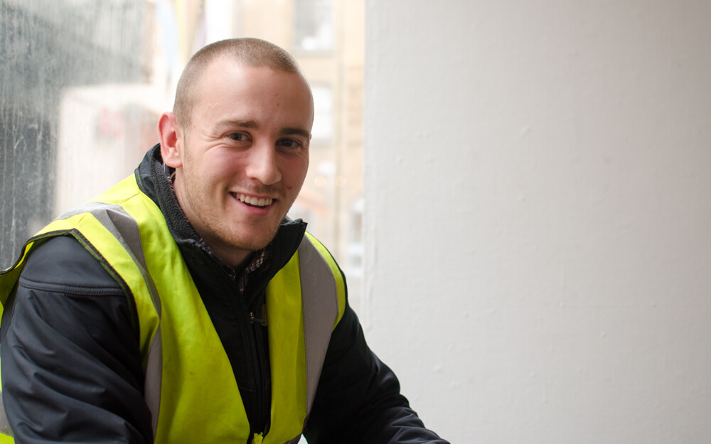 Joe, a Civil Engineering Intern, who worked on the cross-city LUAS (tram) project.