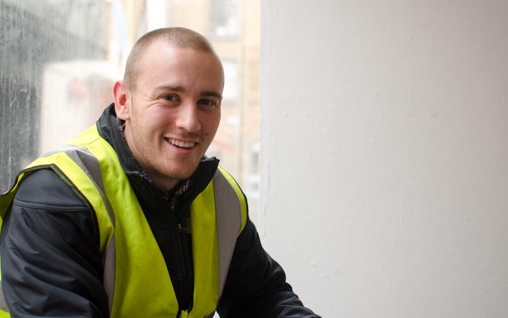 Joe, a Civil Engineering Intern, who worked on the cross-city LUAS (tram) project.