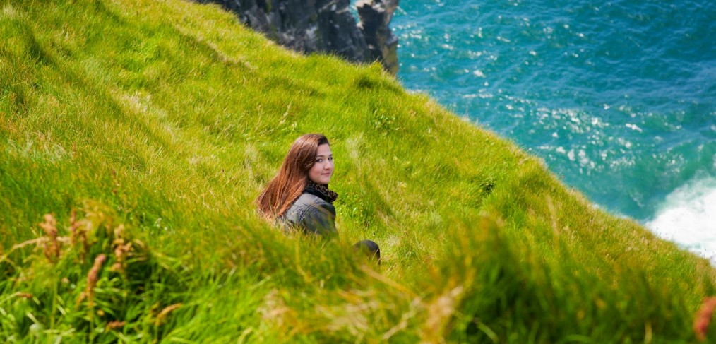 Hanna at the Cliffs of Moher
