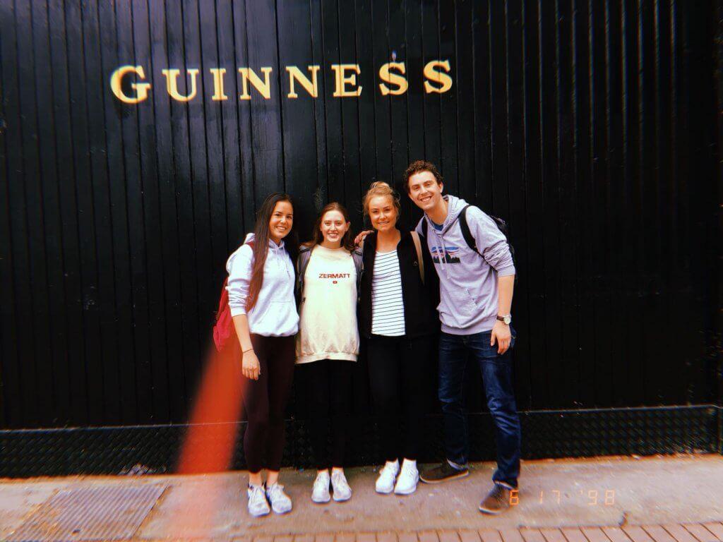group outside Guinness